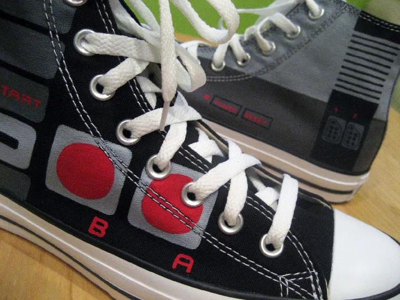 Custom NES Converse Shoes   Converse, Shoes