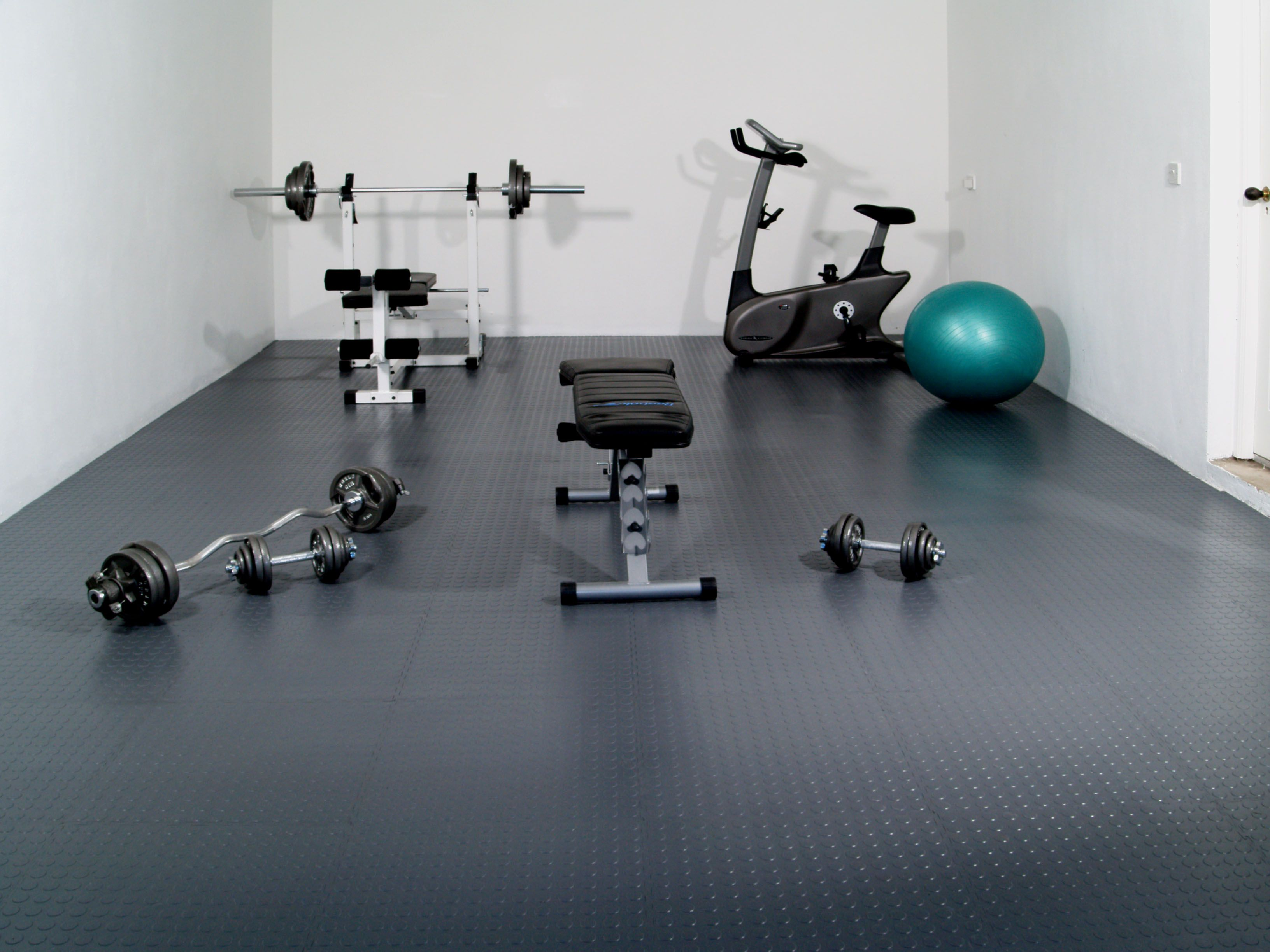 Exclusive home gym flooring home gym equipment pinterest gym ignore the gym gear but this is the perfect hard tough lock flooring tiles im getting for the garage doublecrazyfo Choice Image