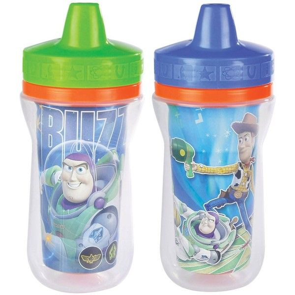 BPA Free The First Years 2 Pack 9 Ounce Insulated Sippy Cup Toy Story Theme
