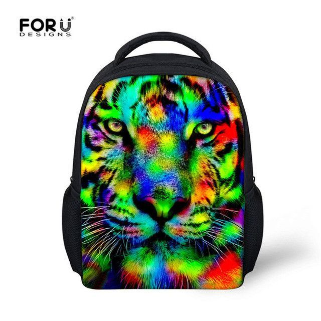 36af0f17351d FORUDESIGNS 12 inch Toddler School Backpacks for Baby Boys Girl Animal Cat  Tiger Casual Small Schoolbag