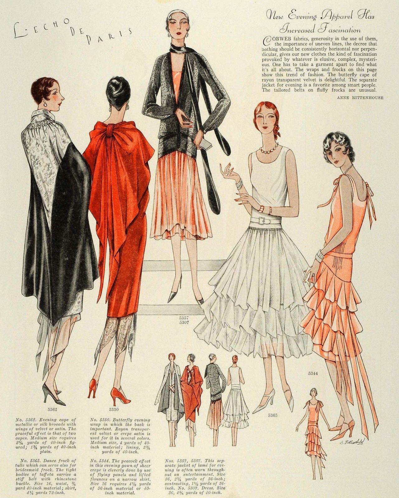 1928 Print McCalls Women Children Flapper Fashion ...