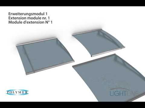 Aufbauprinzip Modulvordach LIGHTLINE