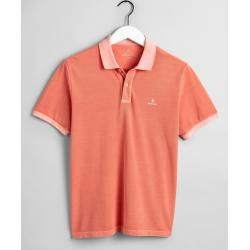 Photo of Gant Sunfaded Piqué Rugger Poloshirt (Orange) Gant