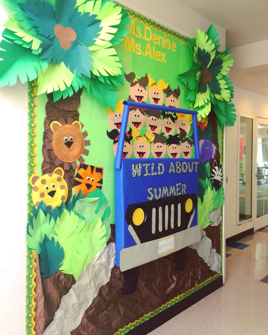 Classroom Door Ideas Jungle ~ Safari bulletin board preschool boards