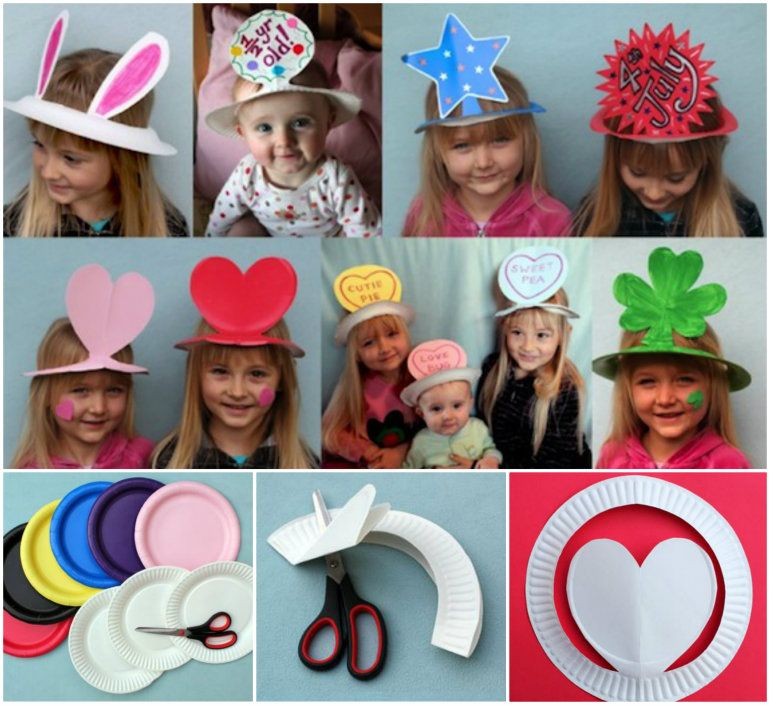 Paper plate hat crafts for all occasions crafts and for Craft hats for kids