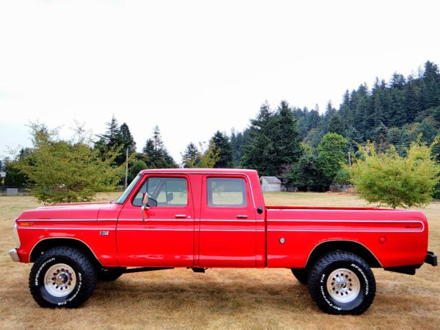1974 Ford F 250 4x4 Crew Cab Highboy Excellent Condition Fully