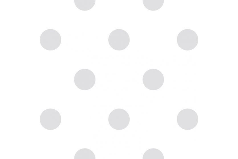 Raschtextil Kindertapete 'Maxipunkte' warmweiß/hellgrau bei Fantasyroom online kaufen
