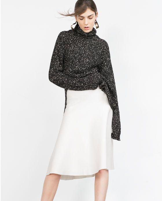 Image 2 of LONG FULL SKIRT from Zara