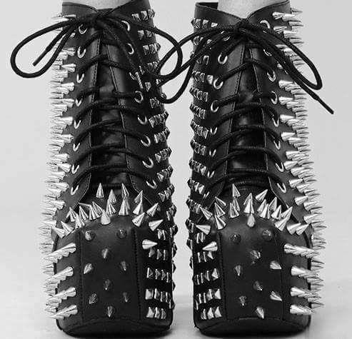 Punk shoes, Gothic shoes, Goth shoes