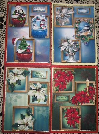 Frame Trio Christmas Bumper Kit 1 (Floral amp Cupcakes) by Wendy De