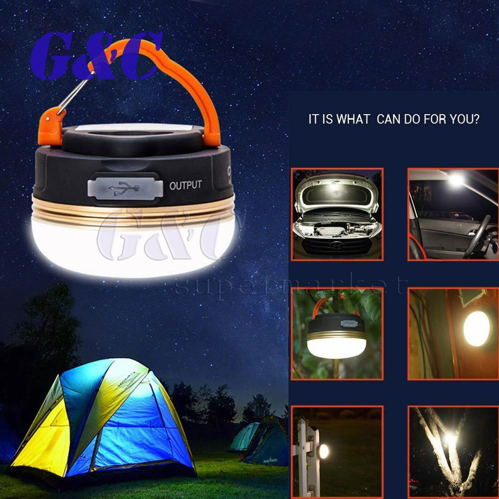 Portable Led Hiking 3w Camping Lantern Tent Fishing Lamp Light Usb Rechargeable Ebay In 2020 Led Camping Lantern Camping Lanterns Tent Lighting