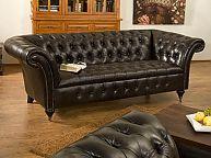 Canape 3 Places Chesterfield Ii Cuir Veritable Brun Furniture Home Decor Sofa