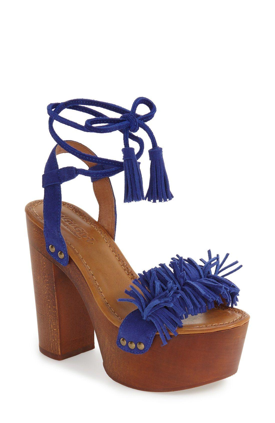425a7382bef240 Neva  Fringe Platform Sandal (Women)