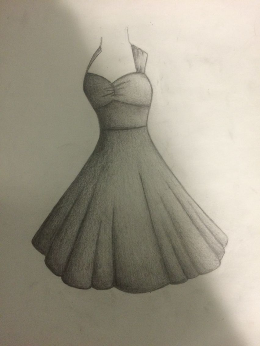 My graduation dress pencil drawing sketch leave feed back