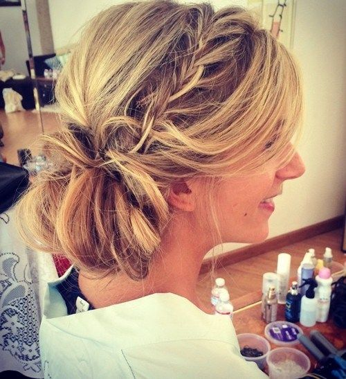 45 side hairstyles for prom to please any taste updo bridesmaid hair style messy side updo pmusecretfo Gallery