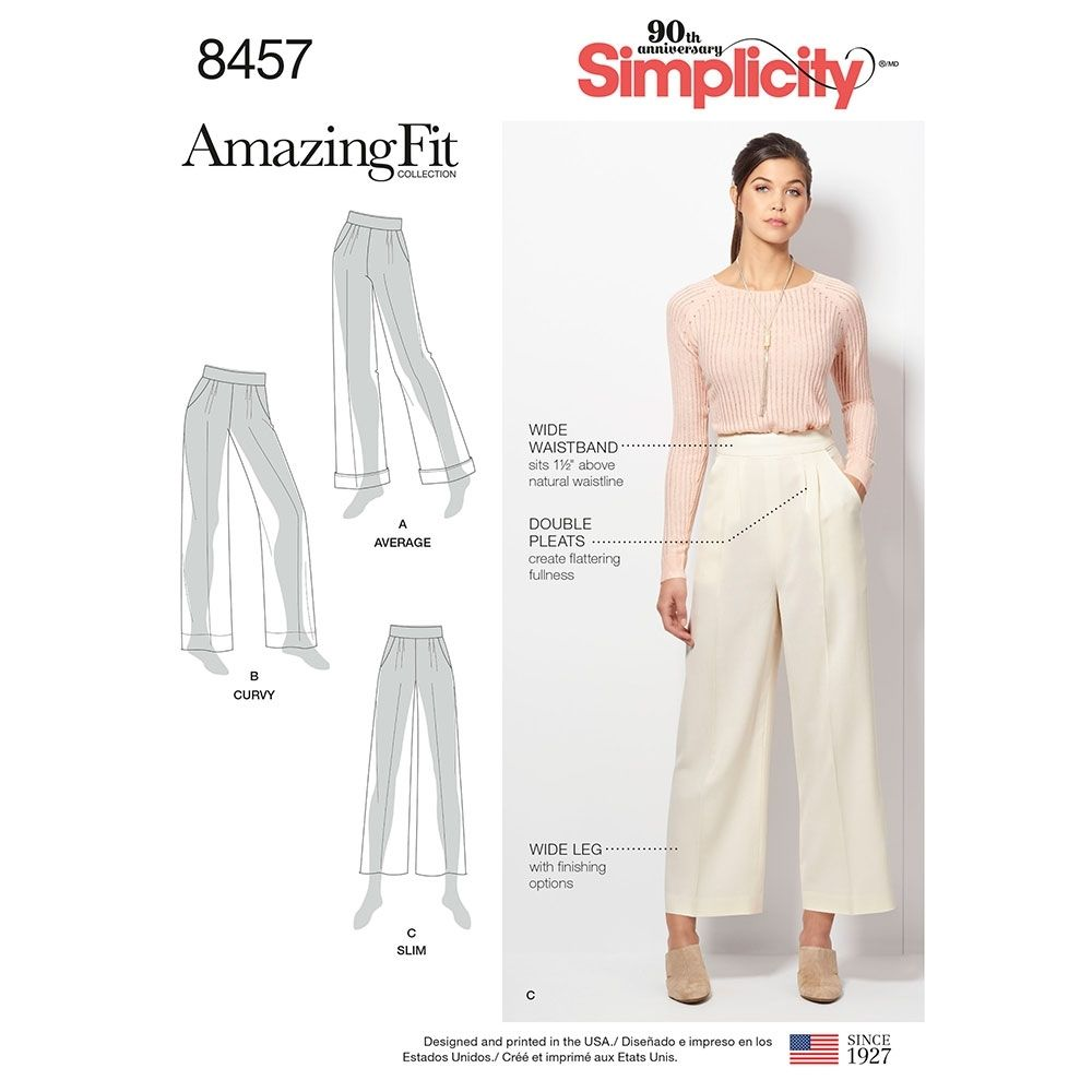 Misses and Womens Amazing Fit Trousers Simplicity Sewing Pattern ...