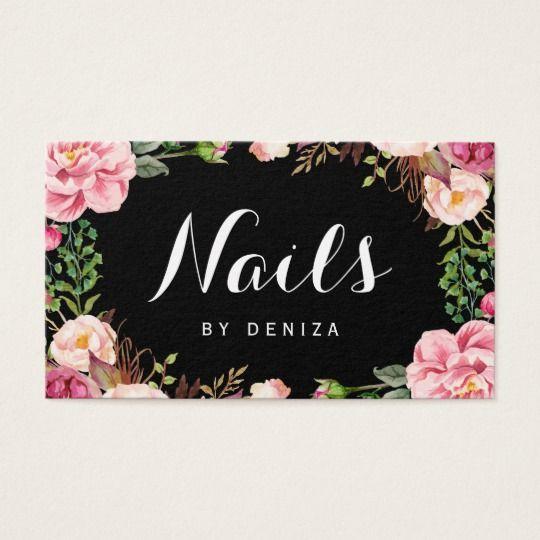 Nagel Salon Nagel Techniker Romantische Visitenkarte