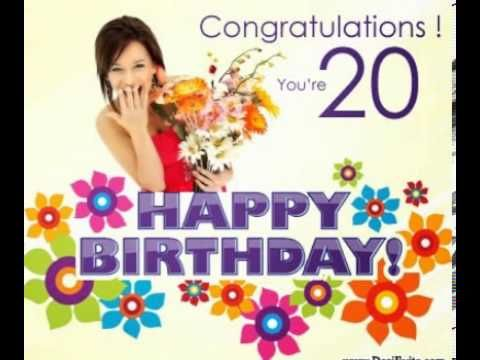 20th Birthday Ecard 20th Birthday Free Birthday Card Birthday Ecards