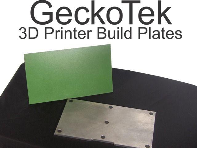 GeckoTek 3D Printer Build Plate by Brad Ruff — Kickstarter
