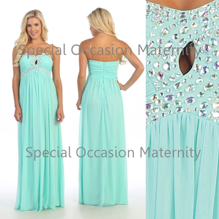 Long Strapless Maternity Dress for Bridesmaids. Misses and Maternity ...