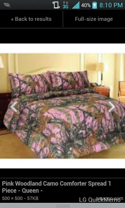 Pink camo bedding | Love! in 2019 | Pink camo bedroom, Camo bedding ...