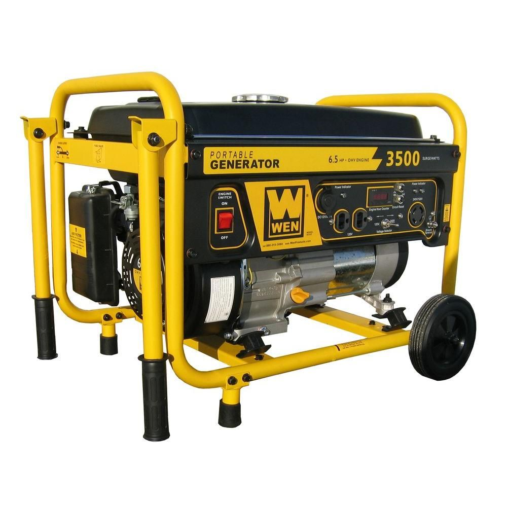 WEN 3,000-Watt Gasoline Powered Portable Generator with ...