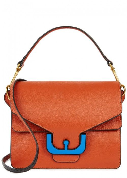 52a186eec6 COCCINELLE AMBRINE ORANGE LEATHER SHOULDER BAG.  coccinelle  bags  shoulder  bags  hand bags  leather  metallic