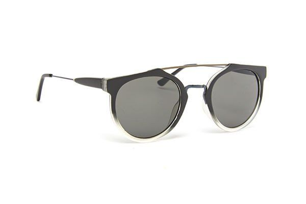 Mens round frame sunglass with black and clear frame JP0263 | Lentes ...