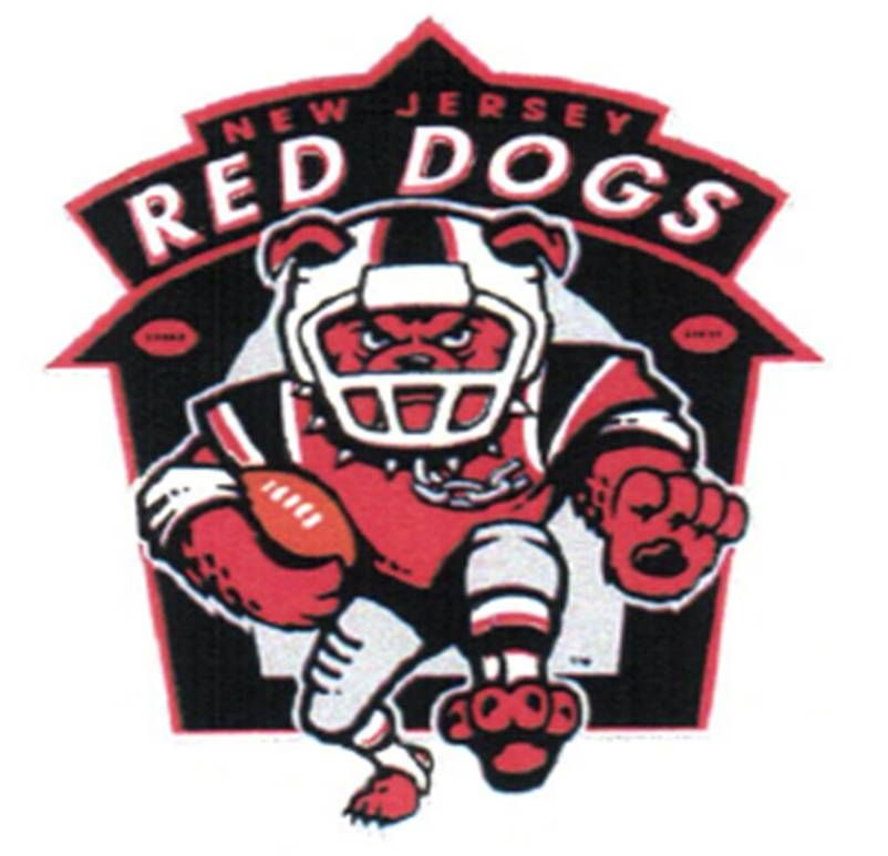 New Jersey Red Dogs Arena football, Football team logos