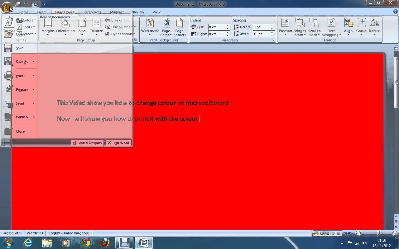 How To Change Picture Color In Word