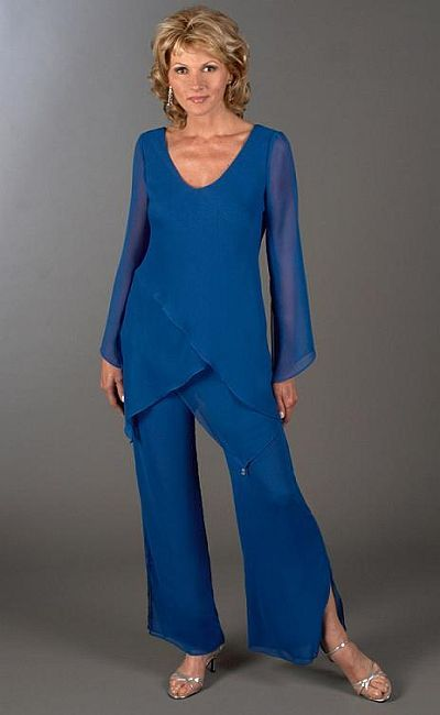 4ad5f1ac2bcb Plus Size Mother of the Bride 2pc Tunic Pant Suit 43953 at frenchnovelty.com