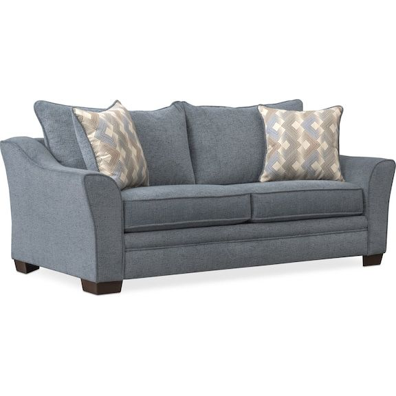 Astounding Trevor Full Memory Foam Seeper Loveseat Blue Value City Pdpeps Interior Chair Design Pdpepsorg