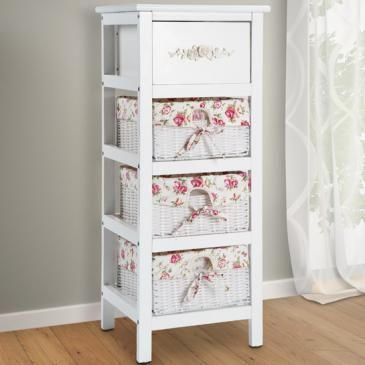 Kommode im Landhausstil mit 3 Körben | Dresser in country style with 3 baskets | @jago24