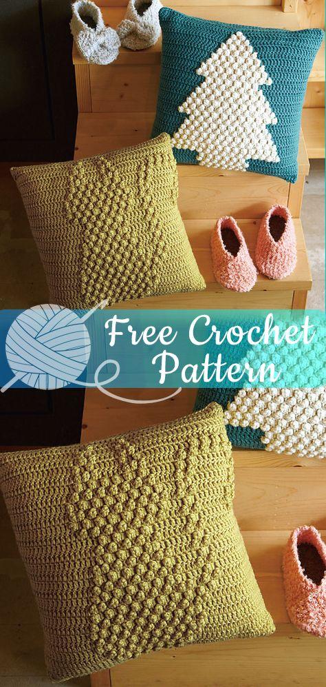 Many Cats Square Pillow Free Crochet Pattern | DailyCrochetIdeas | 997x474