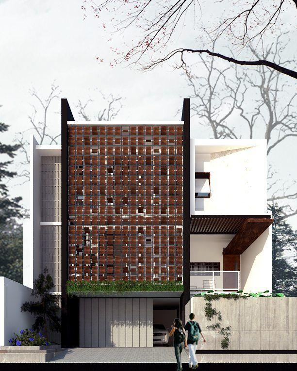 Modern Facade For Residence. Second Skin Facade Allows Us