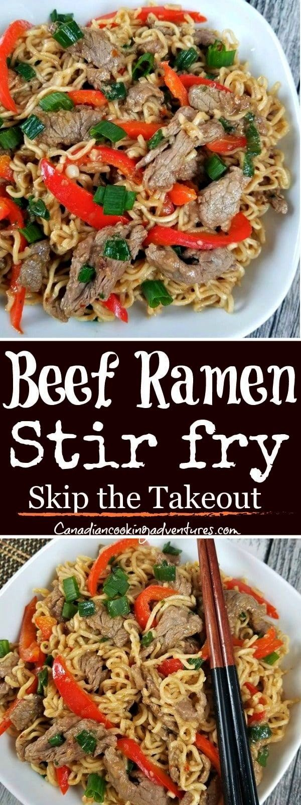 Pepper Ramen Noodle Stir fry This Beef Pepper Ramen Noodle Stir fry! Is READY in less than 20 minut
