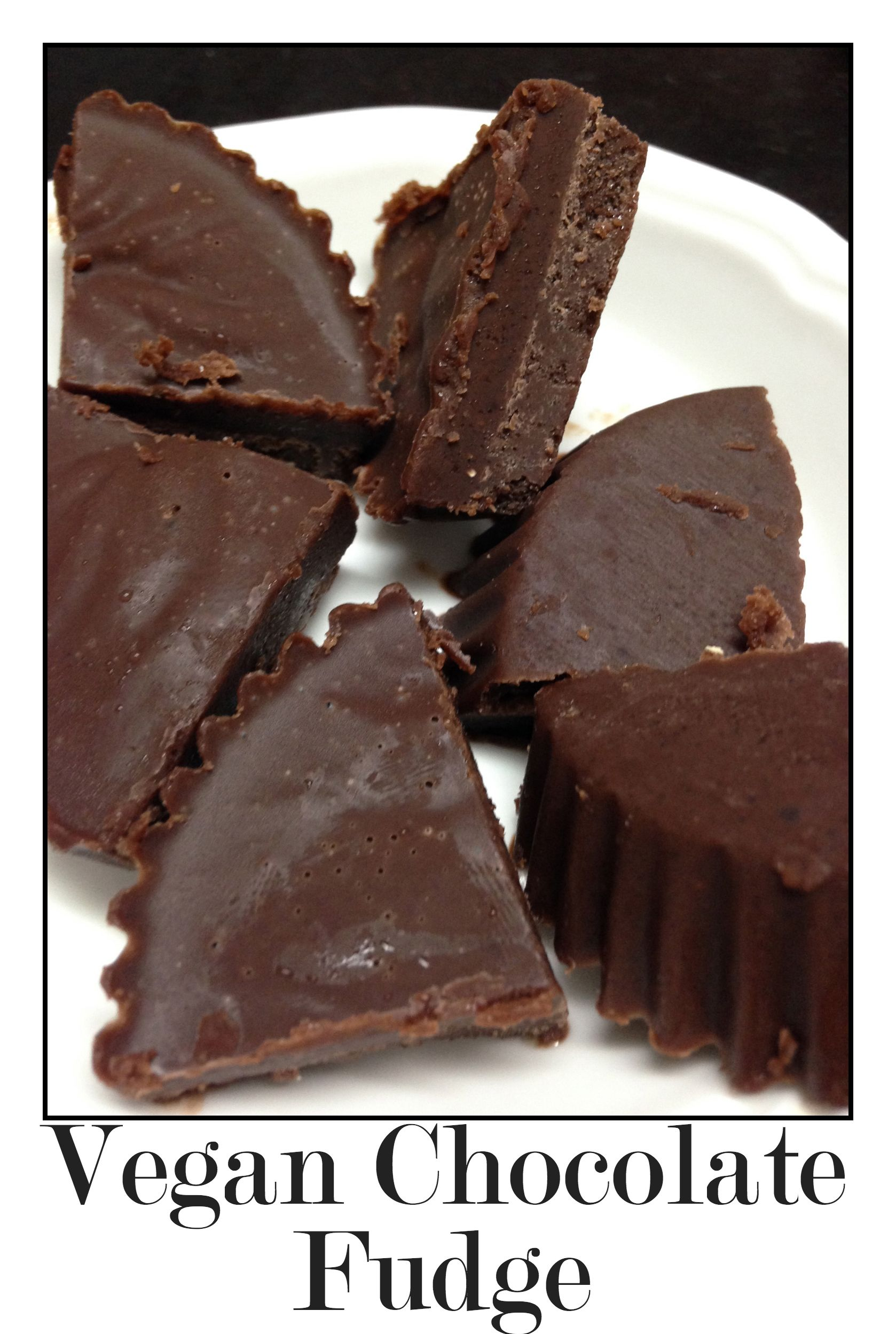 Vegan Chocolate Fudge! | Bars & fudge | Pinterest | Recetas veganas ...
