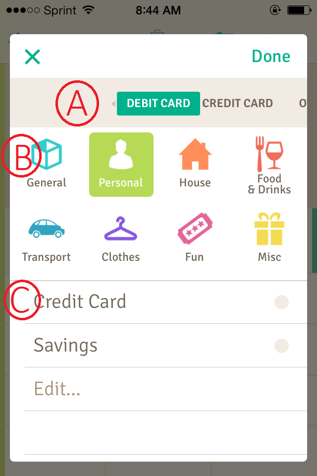 Budget Your Money with the free iphone app and a free
