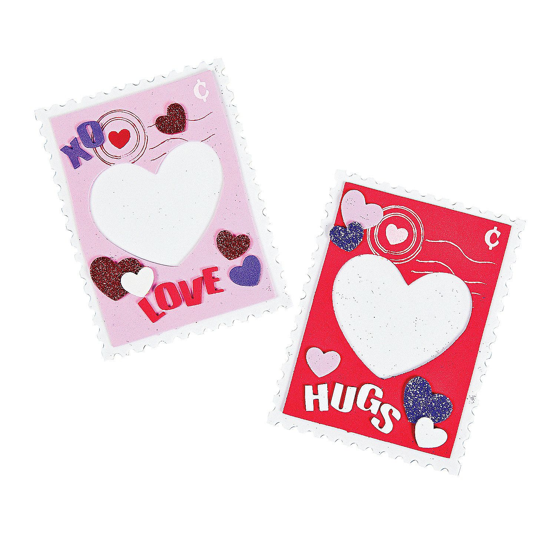 Valentine Stamp Photo Frame Craft Kit - OrientalTrading.com ...
