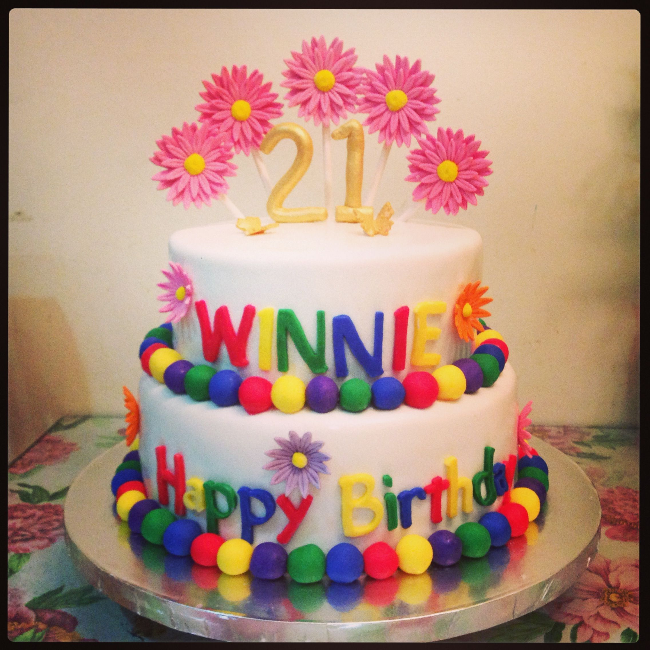 A Special Order For 21st Birthday Yanns Bakery Pinterest