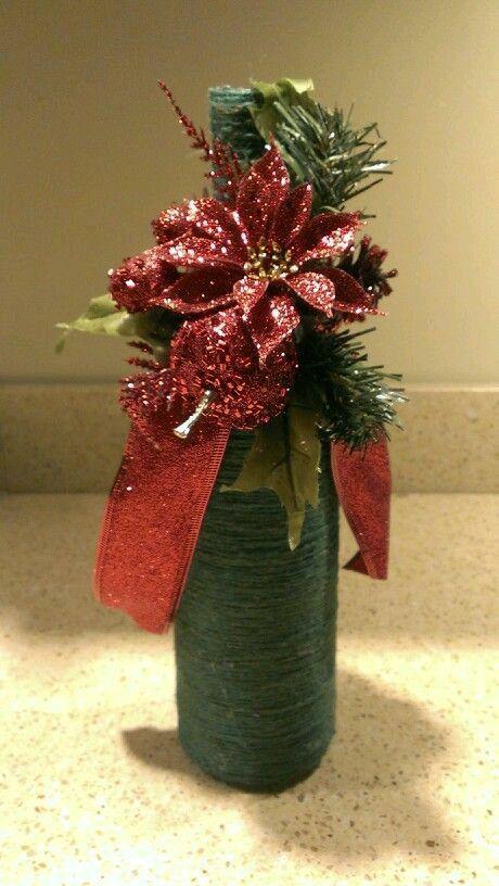 Pin de tara en craft ideas pinterest botellas decoradas navidad y frascos - Botellas decoradas navidenas ...