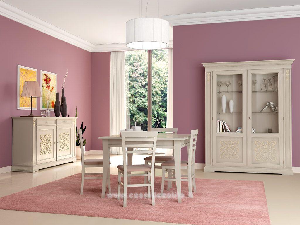 Sala Da Pranzo Classica Con Tavolo Quadrato | Gardenia | mobili Casa ...