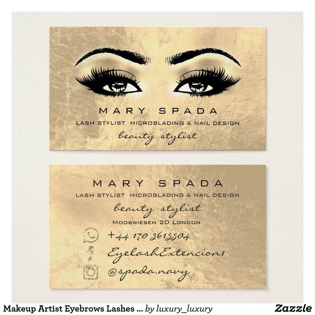 Makeup artist eyebrows lashes gold esthetician business card makeup artist eyebrows lashes gold esthetician business card colourmoves