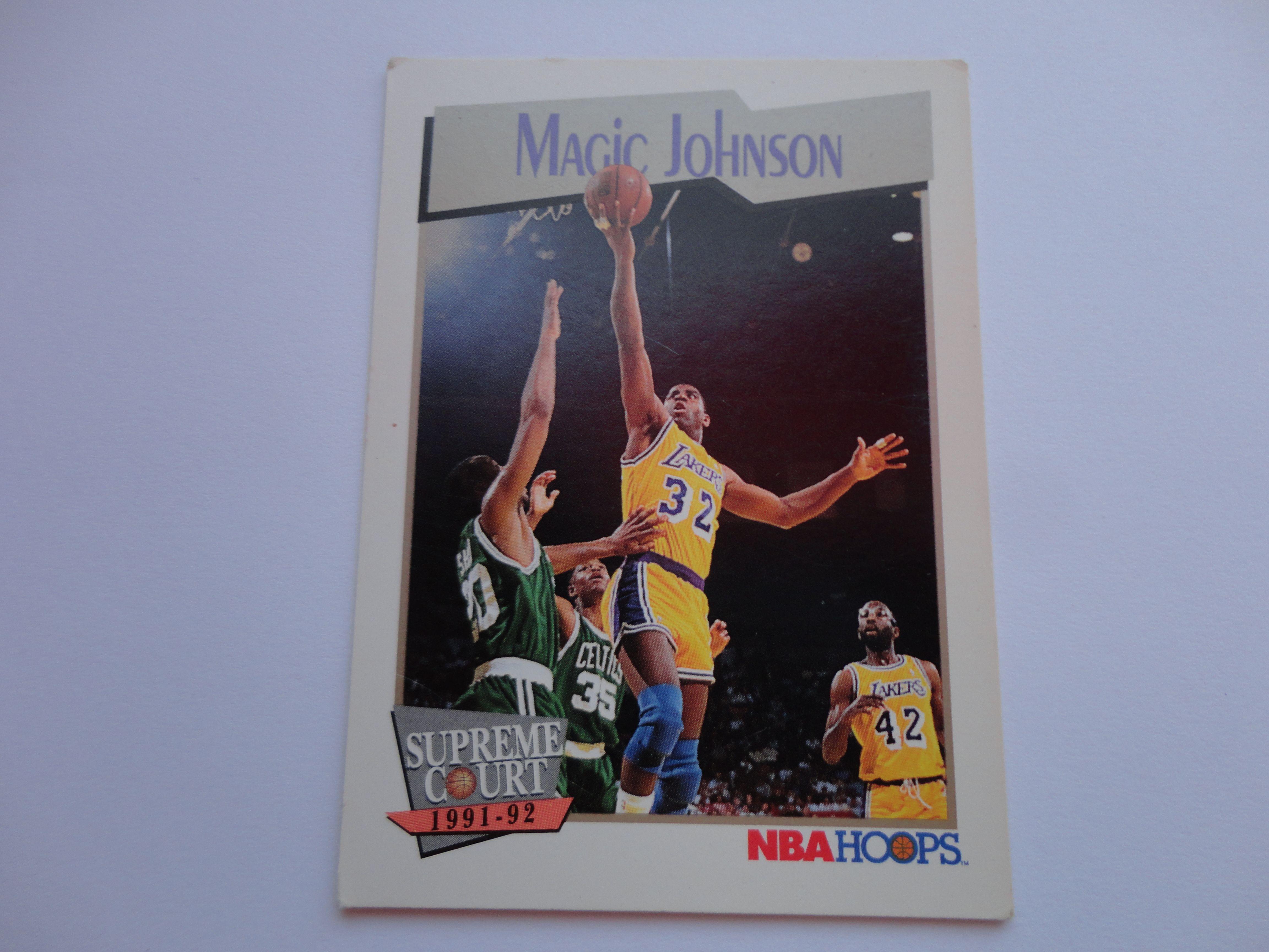 Magic Johnson NBA Hoops Supreme Court 1991 92 Basketball Card