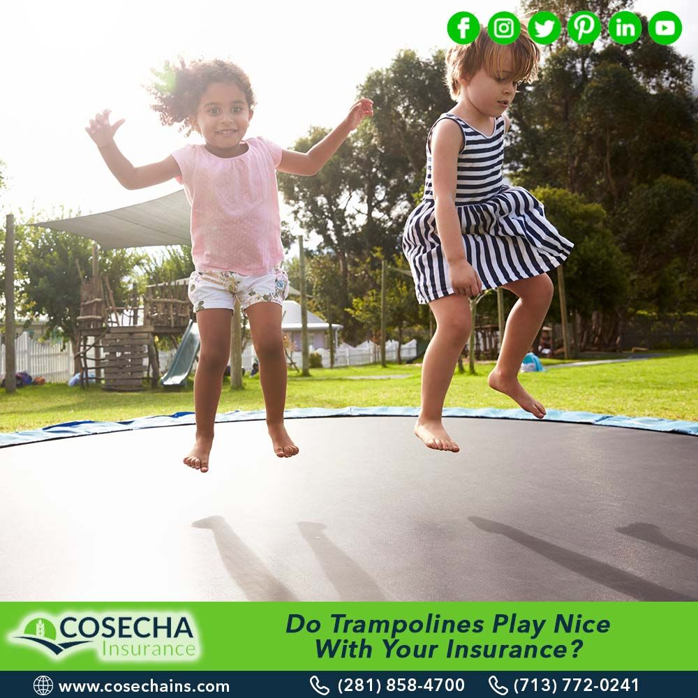 Do trampolines play nice with your insurance