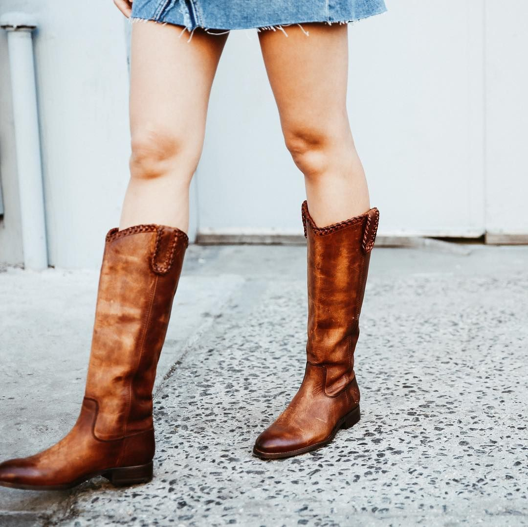 Our classic Melissa style with whipstitch detail | The Frye