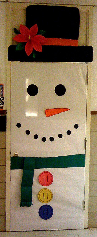 Detalles deco diy y manualidades pinterest deco for Puertas decoradas navidad material reciclable