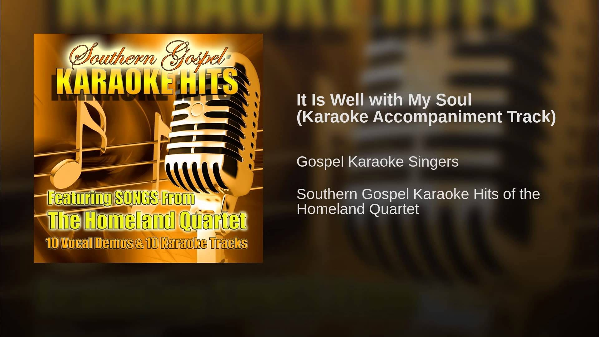 It Is Well With My Soul Karaoke Accompaniment Track With Images
