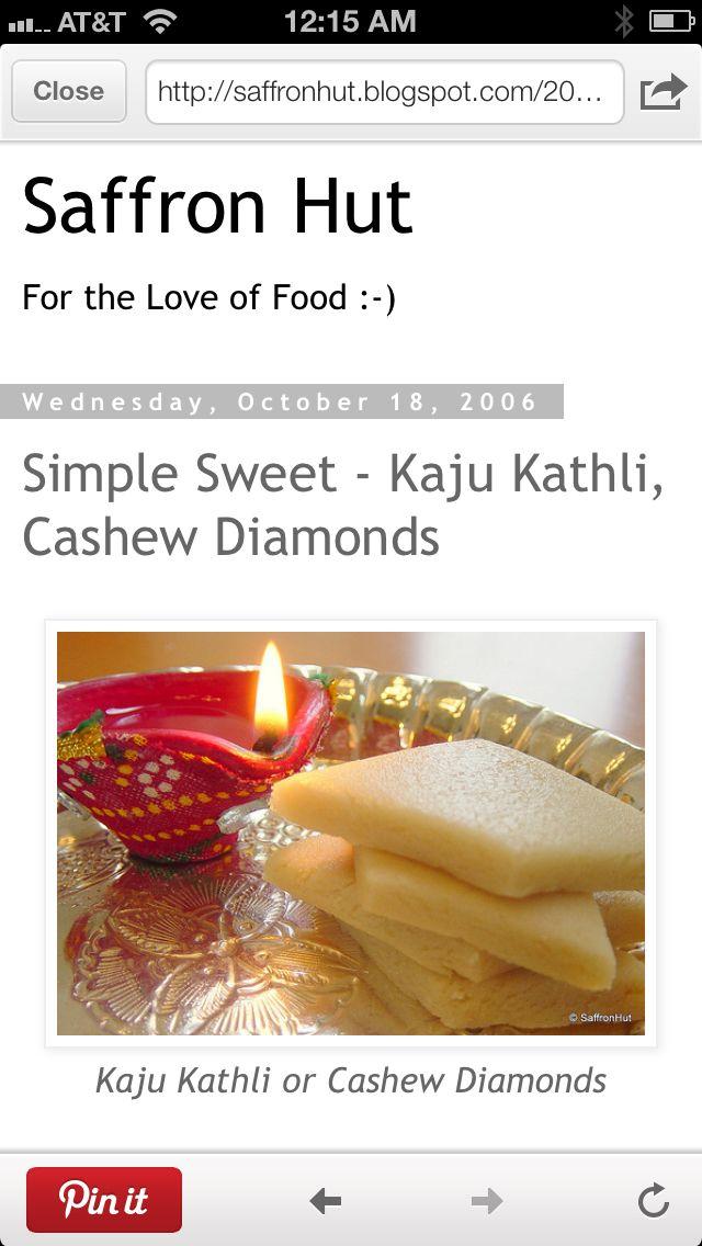 Kaaju Kathli