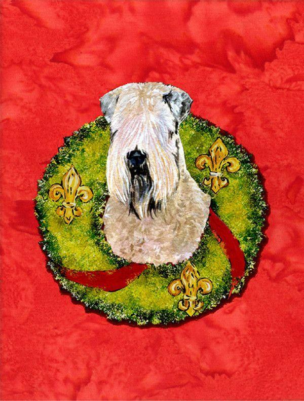 Wheaten Terrier Soft Coated 2 Sided Garden Flag